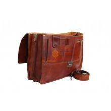 Cartable Vintage En Cuir